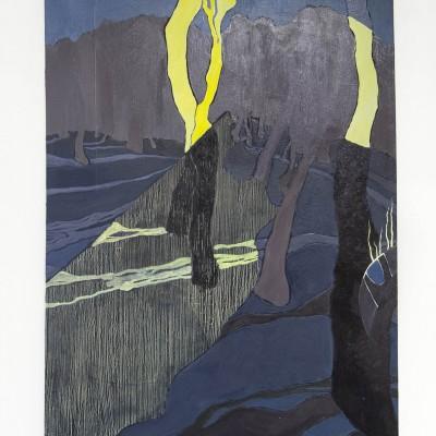 "Seong won Jeon: ""Landscape"". 2014. Oil on canvas. 24x30"""