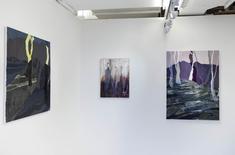 Seong won Jeon: Installation view. 2014. Oil on canvas. Dimensions variable