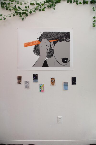 """Sylrica Jack Kydd, Installation view from """"Fall Open Studios"""", 2019, New York."""