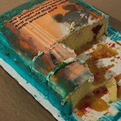 Tyler Nicole Glenn, Untitled (Cake), 2020. Projection mapping, performance.