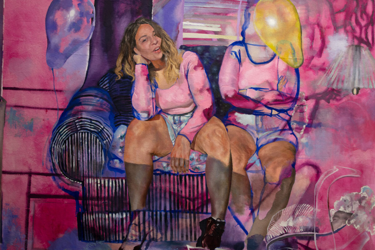 Veronica Fernandez: For Her, I'll Love Us, 2019. Oil on canvas.