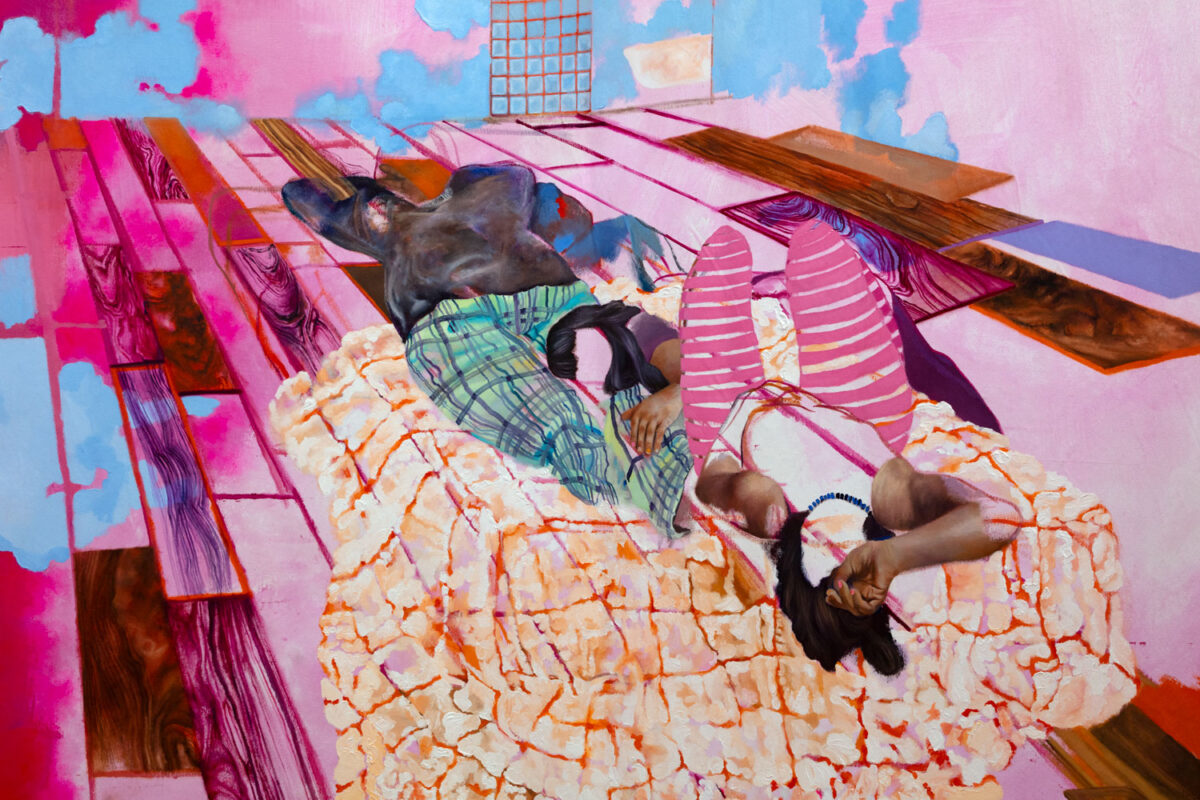 Veronica Fernandez: The Sleepover (You Make Me Feel Protected), 2019. Oil on canvas.