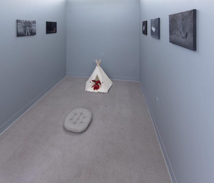 "Viviann Lu. Installation view from ""Fall Open Studios"", 2019, New York."