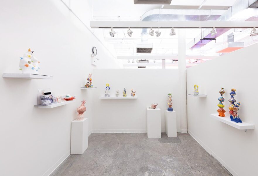 """Carol Cao, Installation view of Cao's studio during """"Fall Open Studios """", 2019, New York."""