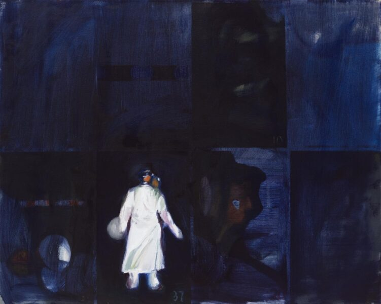 Xinyu Han, Where should I go?, 2020. Oil on canvas, 18 x 24 inches.