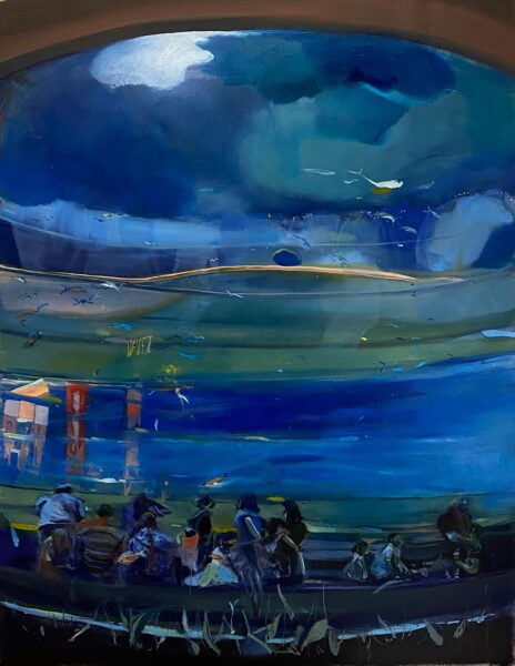 Xinyu Han, Blue Painting, 2020. Oil on canvas.