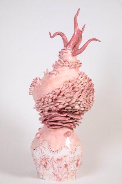 Carol Cao, The Pink Coral, 2019. Glazed Ceramic, 8 x 5 x 5 inches.