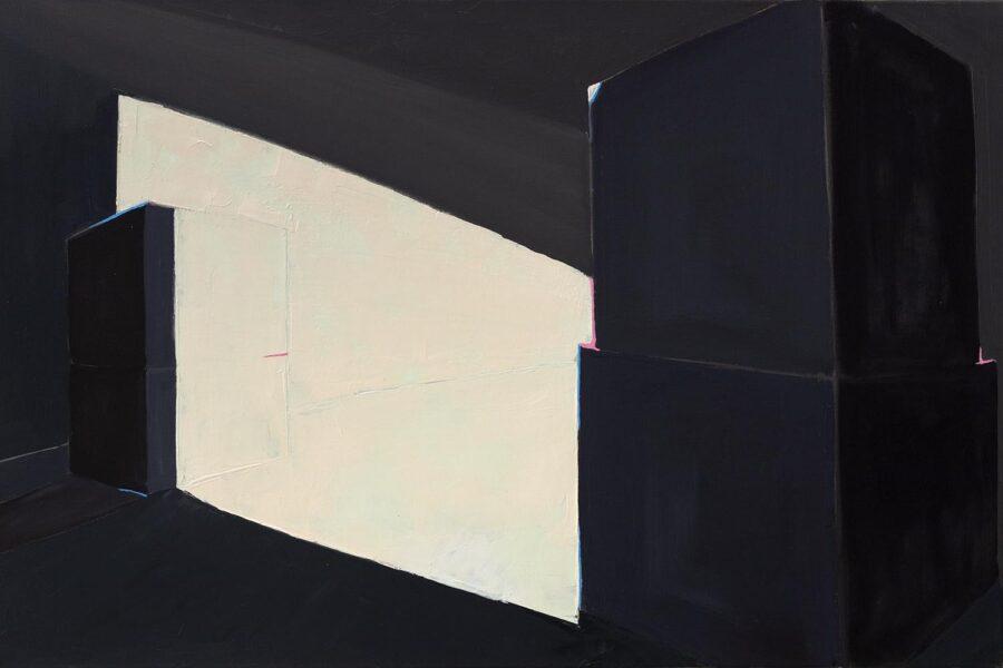 Sandra Wu, Cubes, 2019. Oil on canvas.