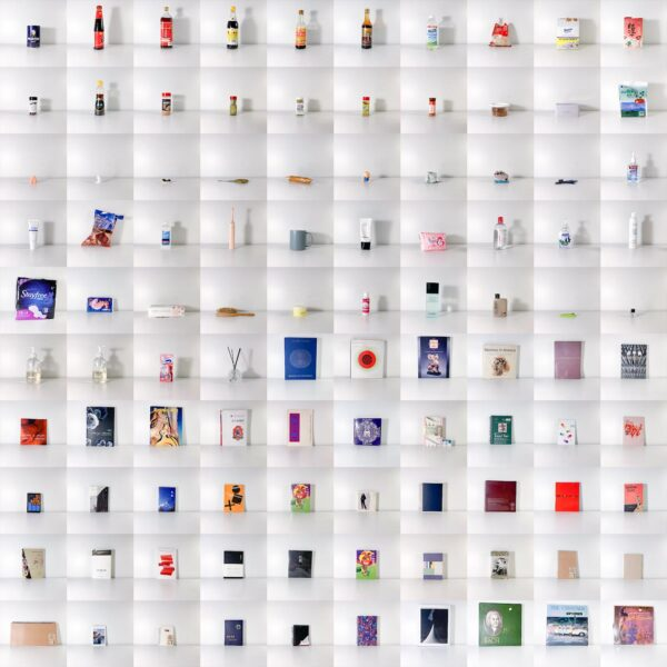 Yue Liu, Four Hundred Discarded Objects, 2020. Photograph on Plexiglas, 79 x 79 inches.