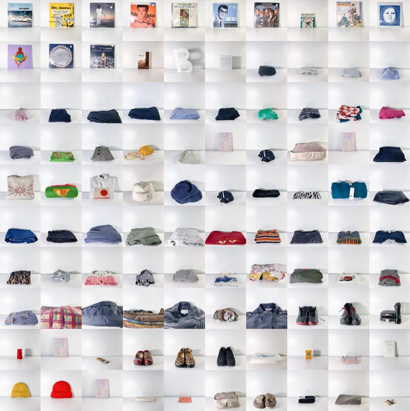 Yue Liu: Four hundred discarded objects, 2020. Photograph on Plexiglas, 79 x 79 inches.