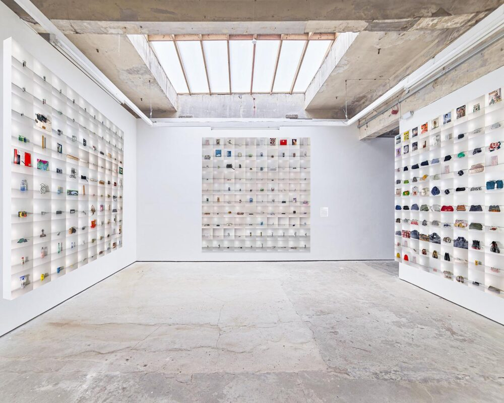 Yue Liu: Four hundred discarded objects, 2020. Photograph on Plexiglas, 79 x 79 inches each.