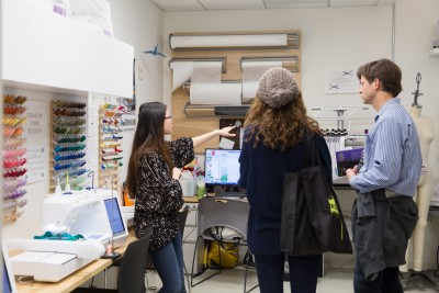 Prospective students touring the Fibers Lab, BFA Fine Arts | SVA