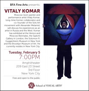 Vitaly Komar Lecture