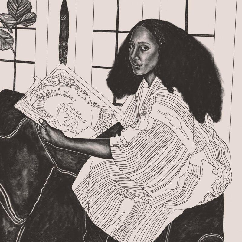 Tiffany Alfonseca: Jane (In Quarantine Series), 2020. Graphite on paper. 16 x 16 inches.
