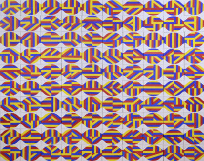 Kun Kyung Sok, Praying for a Hundred Days, 2020. Acrylic on canvas. 90 x 120 inches.